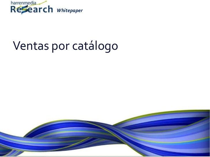 Ventas por catálogo<br />