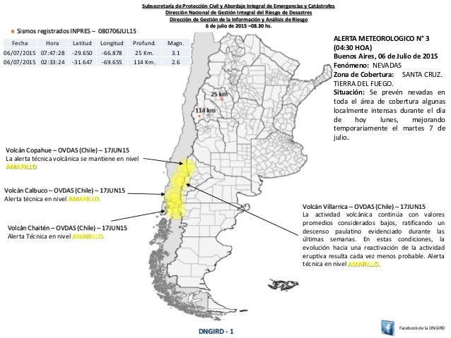 Volcán Copahue – OVDAS (Chile) – 17JUN15 La alerta técnica volcánica se mantiene en nivel AMARILLO Sismos registrados INPR...
