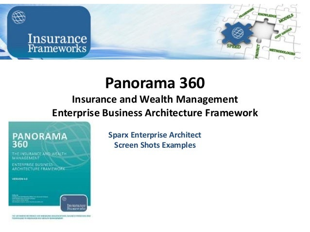 Panorama 360 Insurance and Wealth Management Enterprise Business Architecture Framework Sparx Enterprise Architect Screen ...
