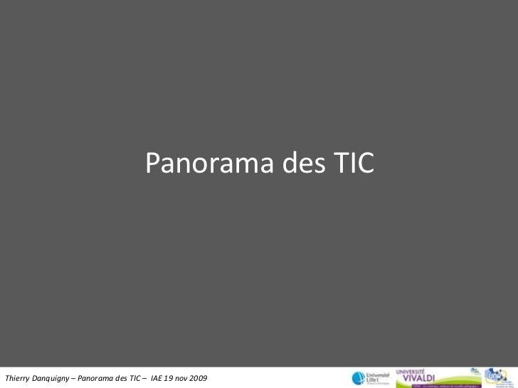 Panorama des TIC<br />