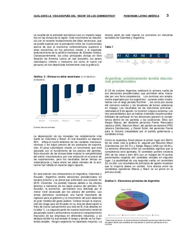 Panorama america latina   coface - ccifec Slide 3