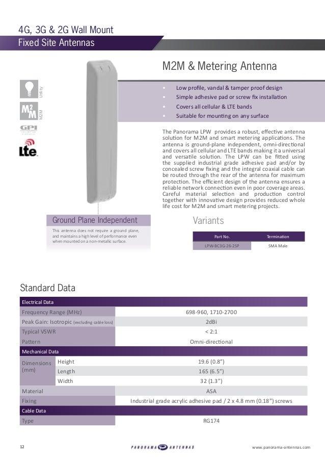 Panorama Antennas Cellular & WiFi Catalogue 2017