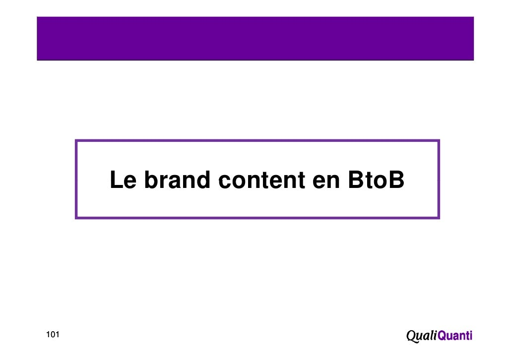 Le brand content en BtoB101