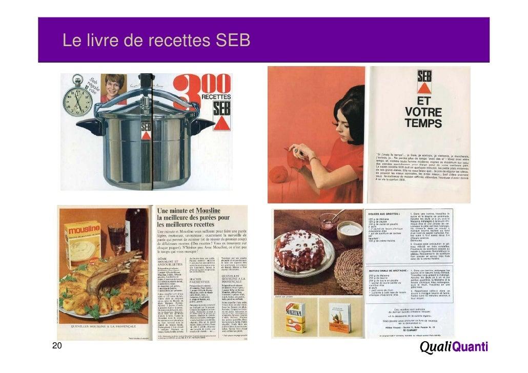 Le livre de recettes SEB20