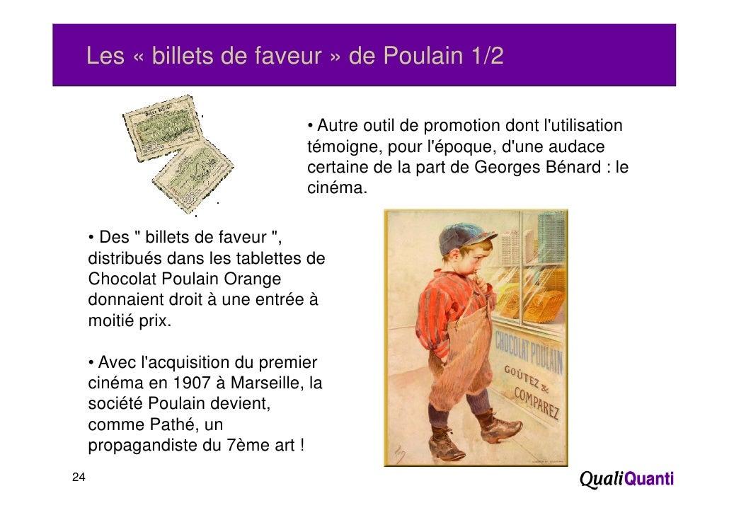 Les « billets de faveur » de Poulain 1/2                                  • Autre outil de promotion dont lutilisation    ...