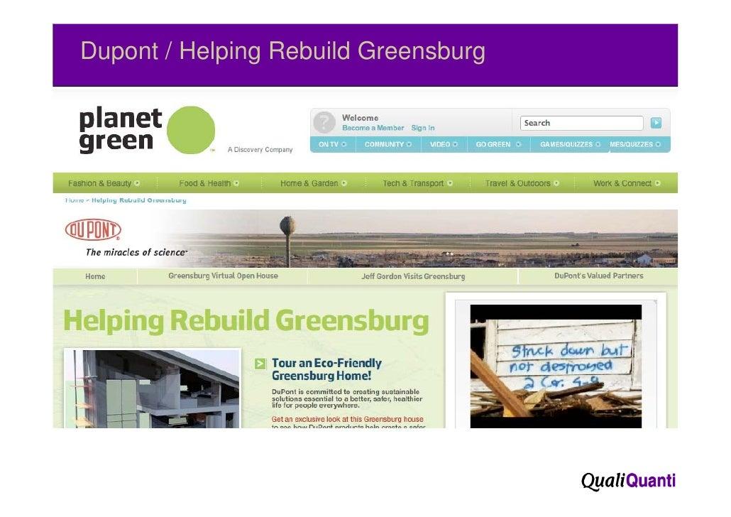 Dupont / Helping Rebuild Greensburg