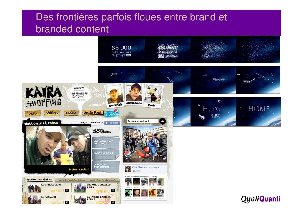 Des frontières parfois floues entre brand et     branded content73