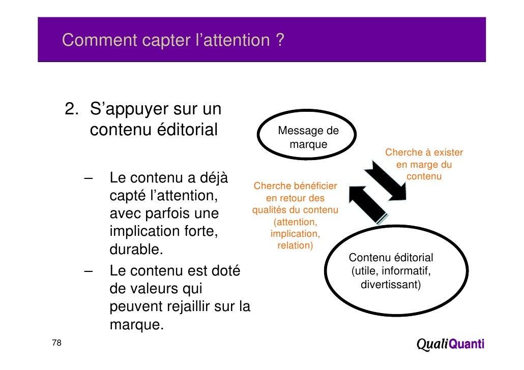Comment capter l'attention ?     2. S'appuyer sur un        contenu éditorial                  Message de                 ...