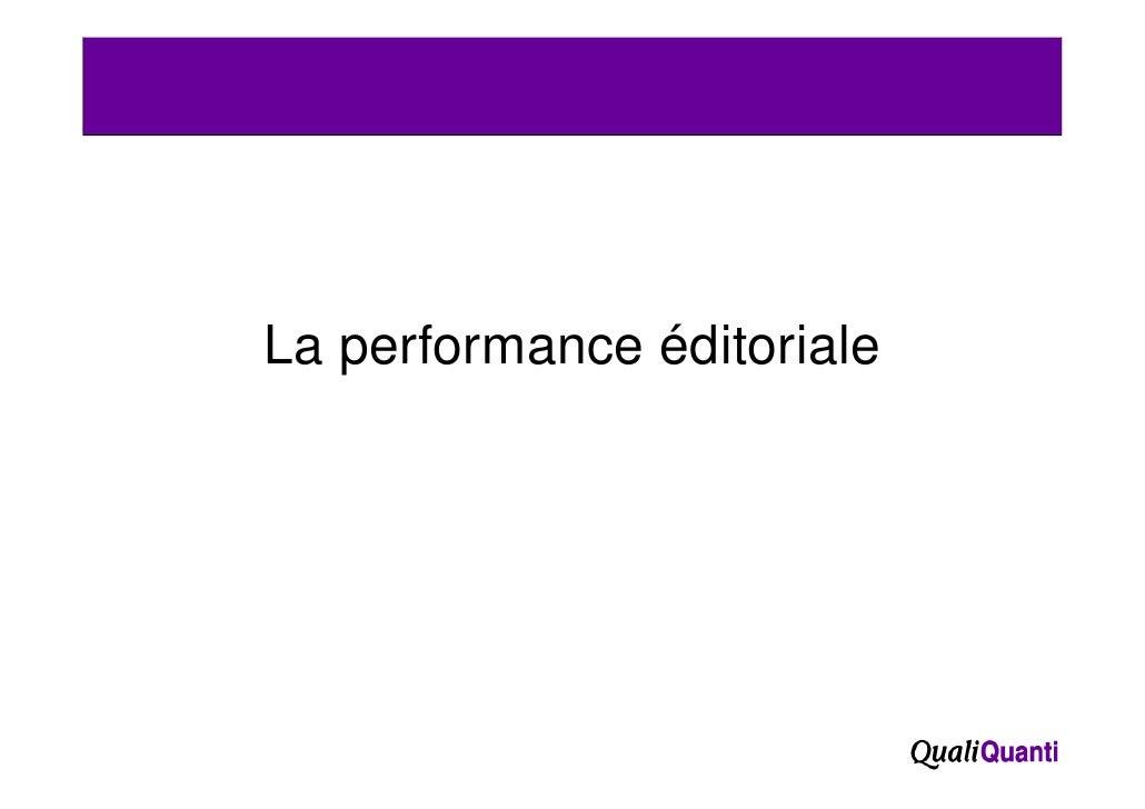 La performance éditoriale