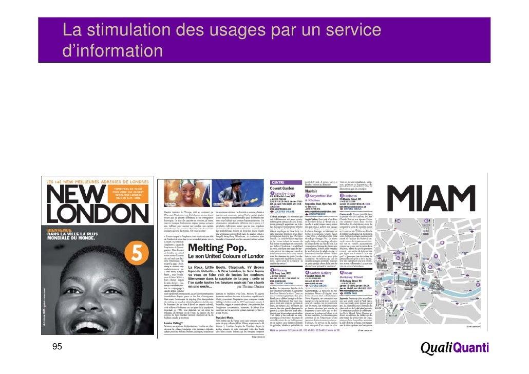 La stimulation des usages par un service     d'information95