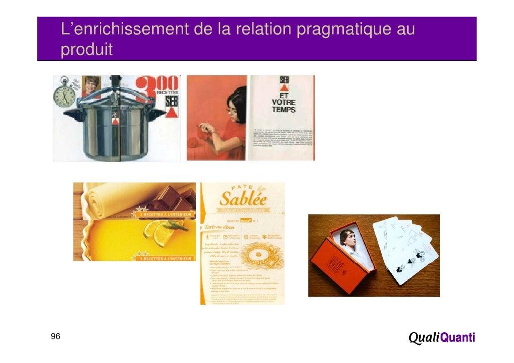 L'enrichissement de la relation pragmatique au     p     produit96