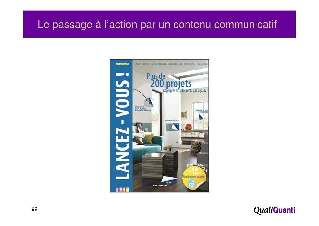 Le passage à l'action par un contenu communicatif98