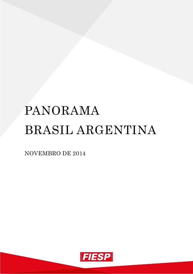PANORAMA  BRASIL ARGENTINA  NOVEMBRO DE 2014