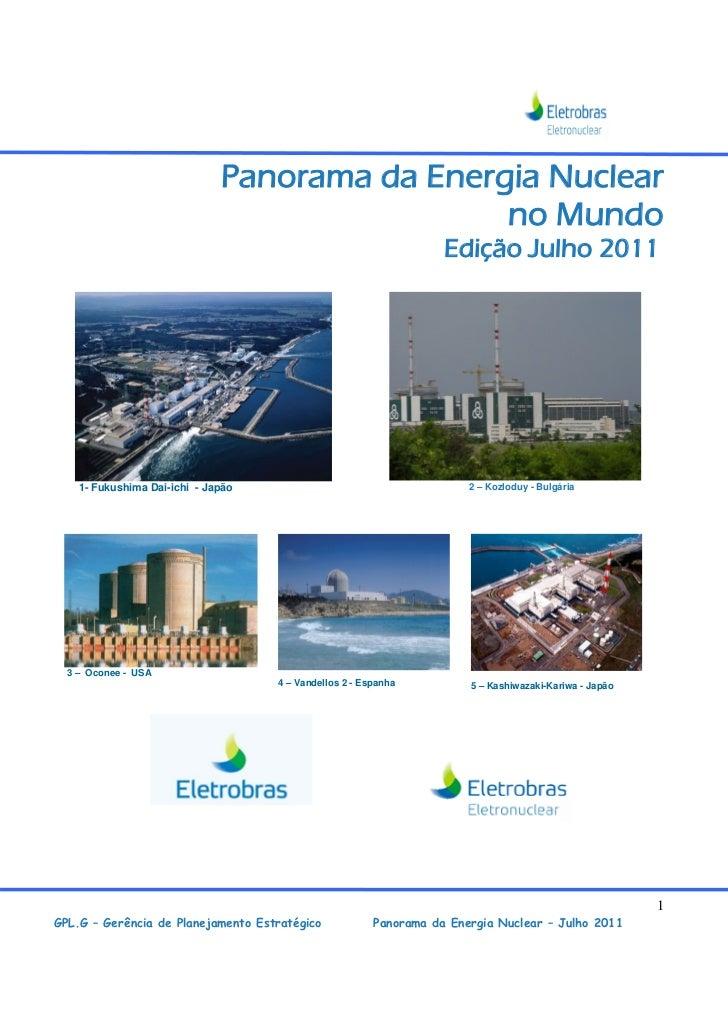 Panorama da Energia Nuclear                                               no Mundo                                        ...