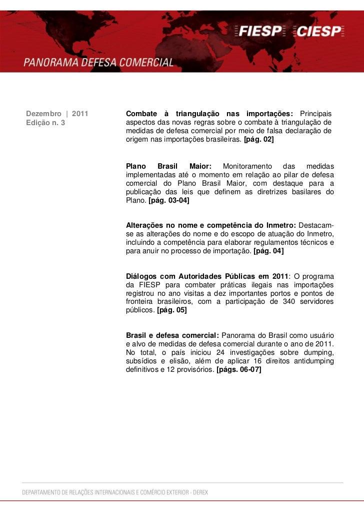 Dezembro | 2011   Combate à triangulação nas importações: PrincipaisEdição n. 3       aspectos das novas regras sobre o co...