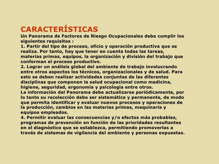 Panorama de factores de riesgo ocupacional nº2 Slide 2