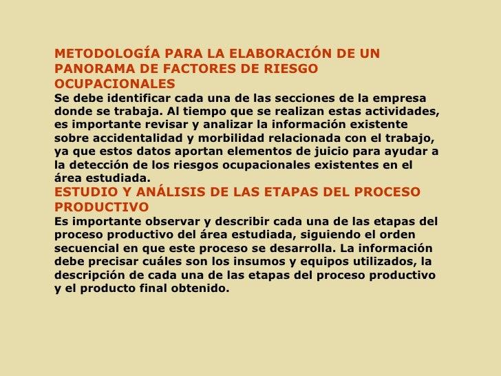 Panorama de factores de riesgo ocupacional nº2 Slide 3