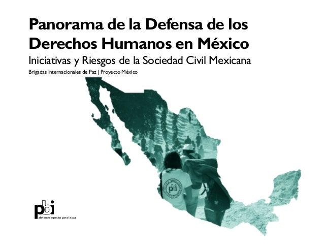 Panorama de la Defensa de los Derechos Humanos en México: Iniciativas y Riesgos de la Sociedad Civil Mexicana 1 Panorama d...