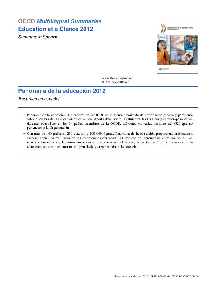OECD Multilingual SummariesEducation at a Glance 2012Summary in Spanish                                                   ...