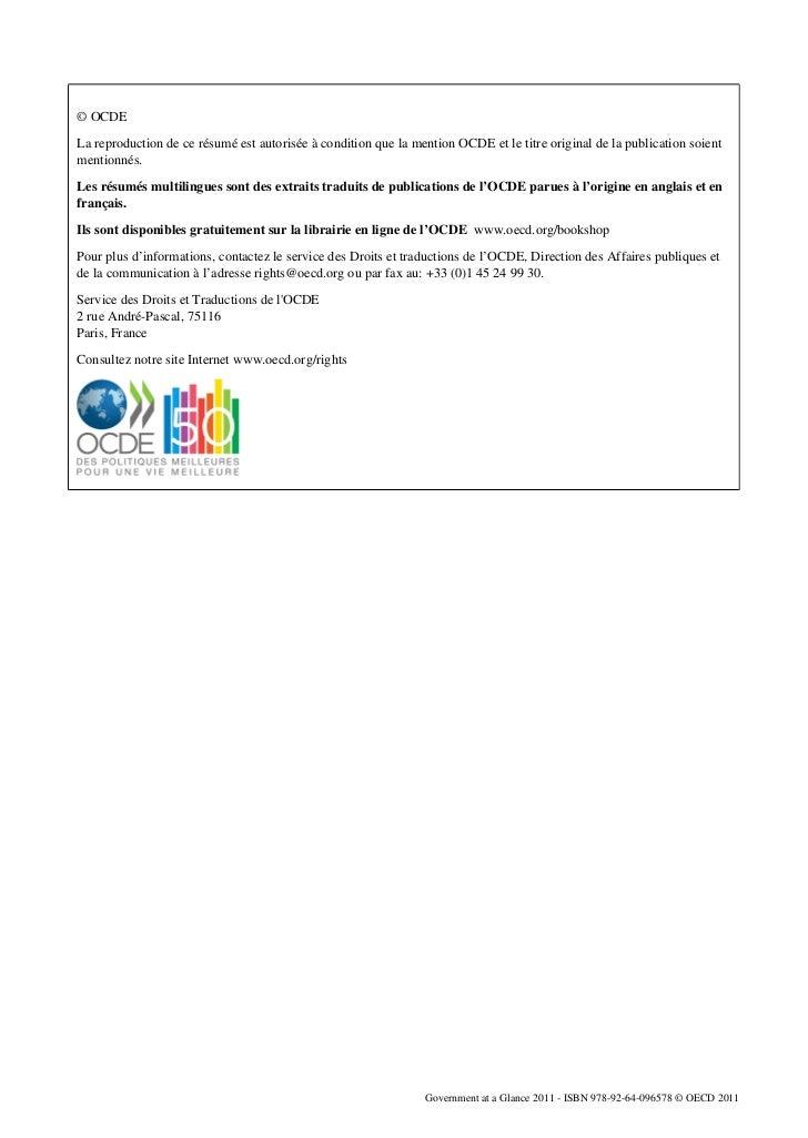 © OCDELa reproduction de ce résumé est autorisée à condition que la mention OCDE et le titre original de la publication so...