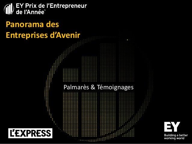 Panorama des Entreprises d'Avenir  Palmarès & Témoignages