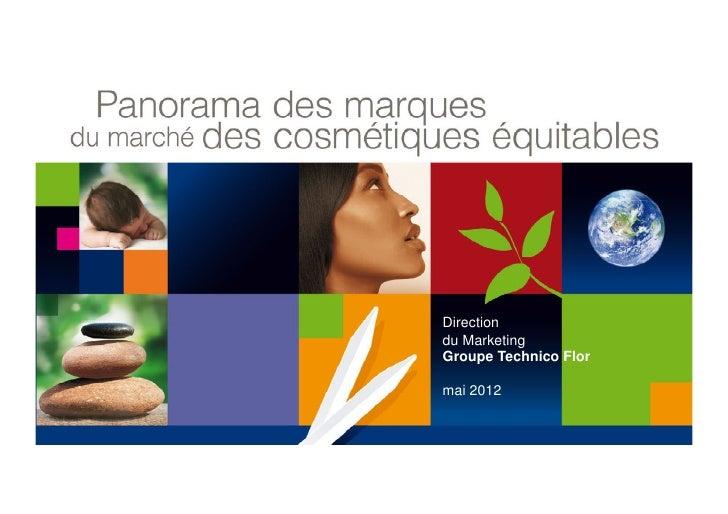 Directiondu MarketingGroupe Technico Flormai 2012