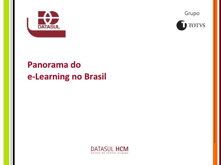 Panorama do  e-Learning no Brasil
