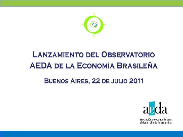 Panorama Fiscal de     BrasilObservatorio AEDA de la Economía Brasileña