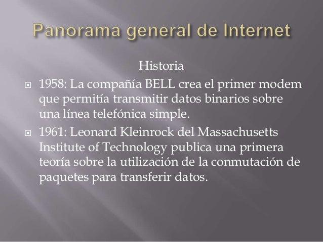 Panorama general de internet Slide 2