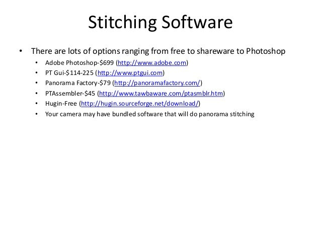 Panorama photography pdf