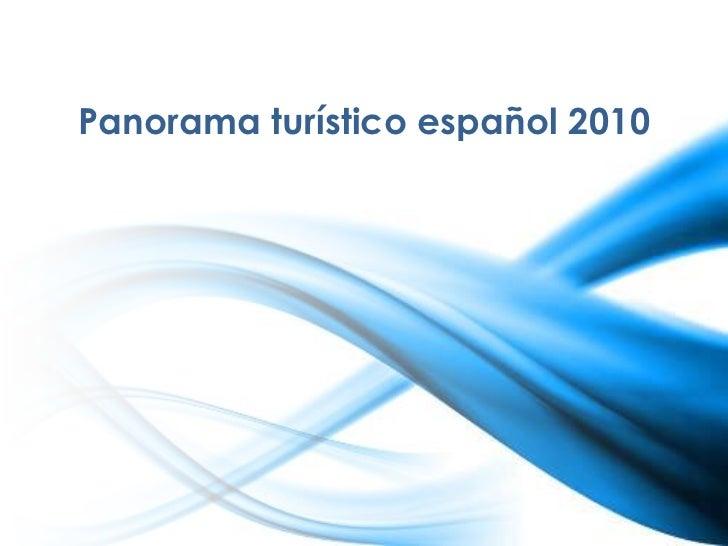 Panorama turístico español 2010