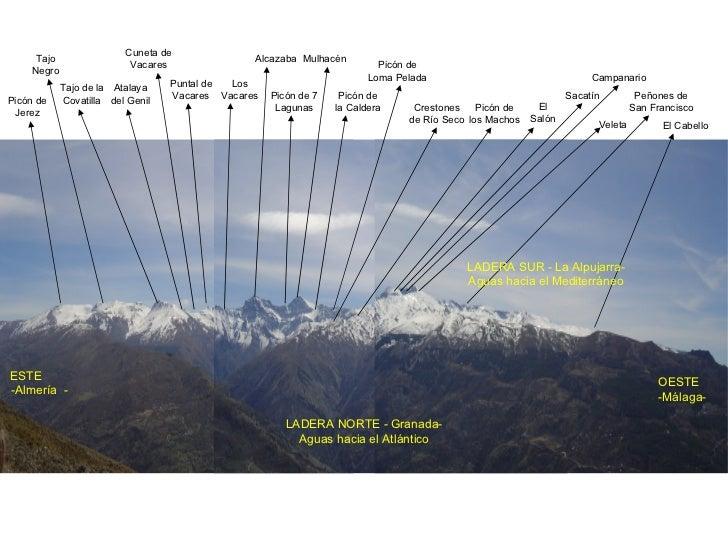 Picón de Jerez Tajo Negro Cuneta de Vacares Atalaya del Genil Tajo de la Covatilla Picón de 7 Lagunas Picón de la Caldera ...