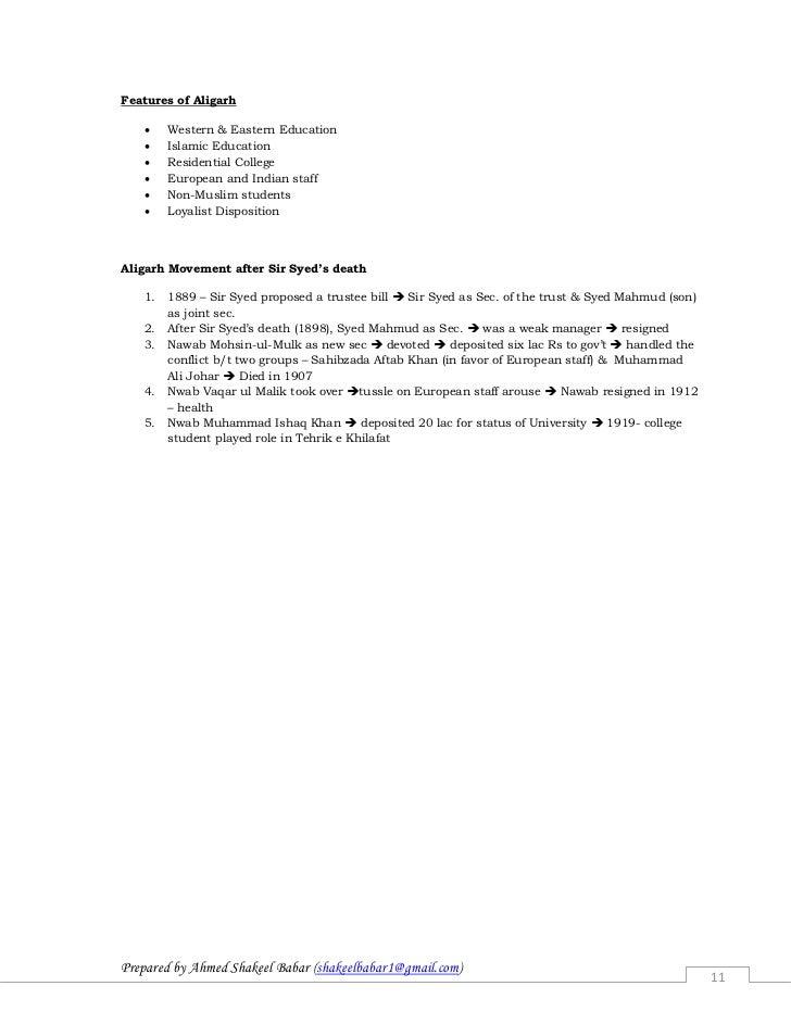 aligarh movement essay writer