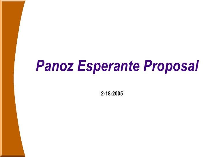 Panoz Esperante Proposal 2-18-2005