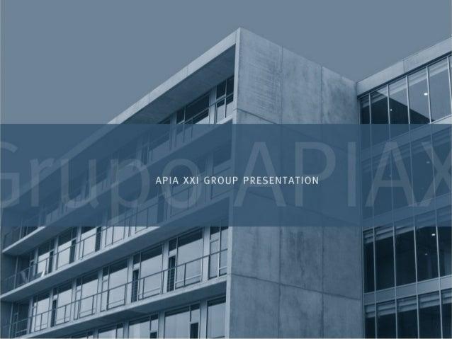 El grupo empresarial APIA XXI desarrolla su trabajo en cuatro áreas de negocio: ingeniería, construcción, investigación y ...