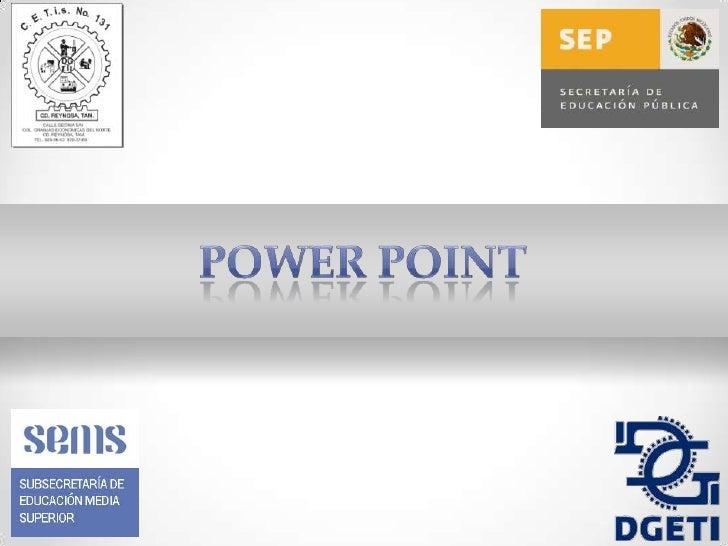 Pantalla Principal de          Power Point•   Nombre: Juan Eduardo Alvarado Ramírez•   Grupo: 2°D•   Especialidad: Informá...