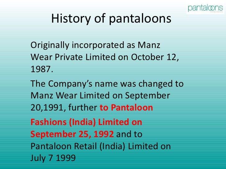 Pantaloon retail limited marketing analysis