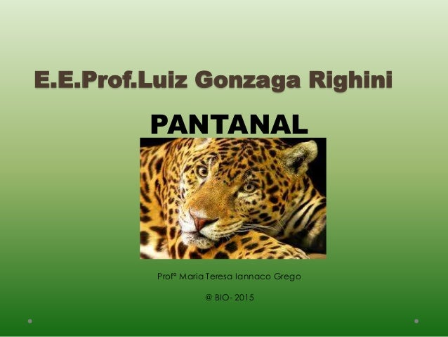 E.E.Prof.Luiz Gonzaga Righini PANTANAL Profª Maria Teresa Iannaco Grego @ BIO- 2015