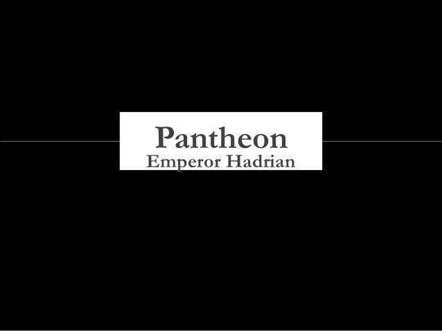 Emperor Hadrian Pantheon