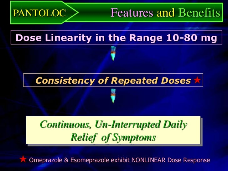 PANTOLOC                     Features and Benefits Lack of Any Clinically Significant     Drug-Drug Interactions No Effect...
