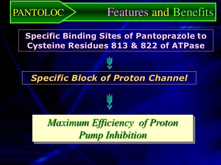 PANTOLOC          Features and Benefits   Available in Various Package Forms20 mg (7 or 14 TAB), 40 mg (7 or 14 TAB)  Conv...