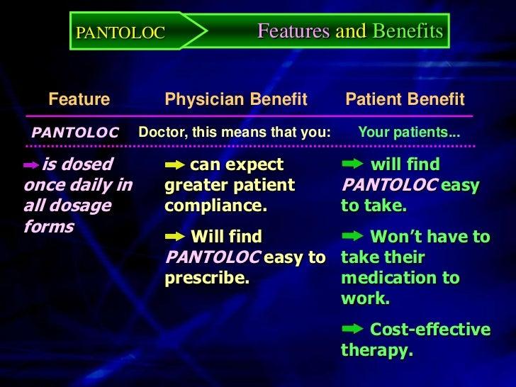 PANTOLOC        Features and Benefits                       60                                                         Pan...