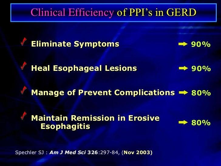 PPI's versus H2RA's in Erosive Esophagitis                      100                                                       ...