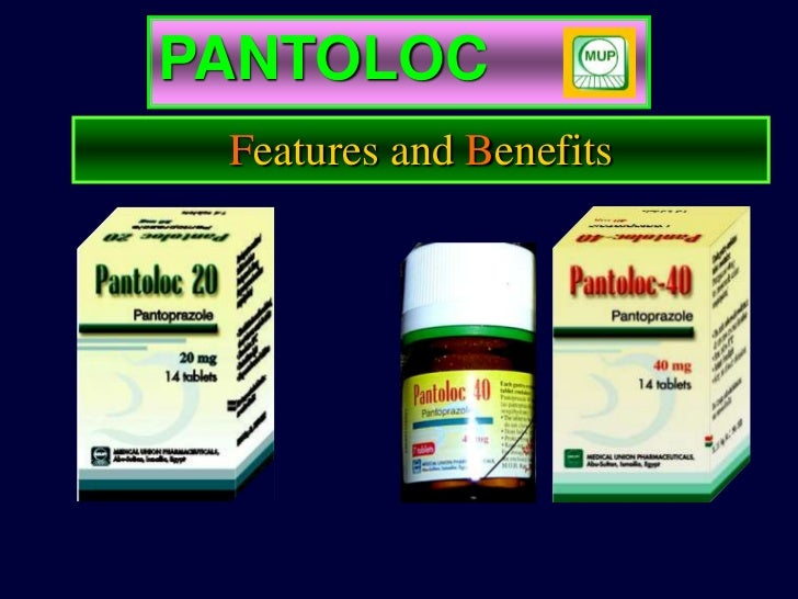 PANTOLOC                   Features and Benefits    Absolute Bioavailability 77%   High Blood Level Concentration         ...