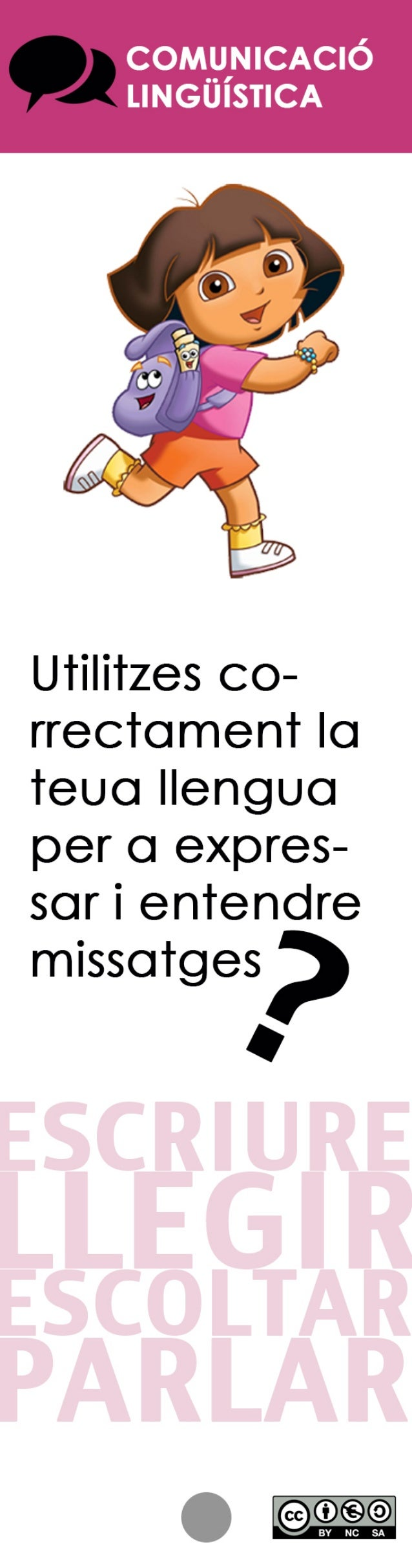 COMyINICACIÓ LINGUISTICA  U'r¡I¡'rzes co- rrectement la ïeuo llengua per o expres- sor í enïendre  míssofges?   O