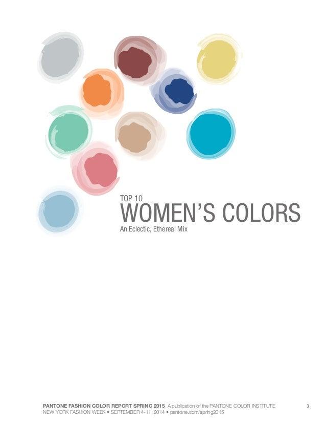 Pantone fashion Color Palette spring 2015