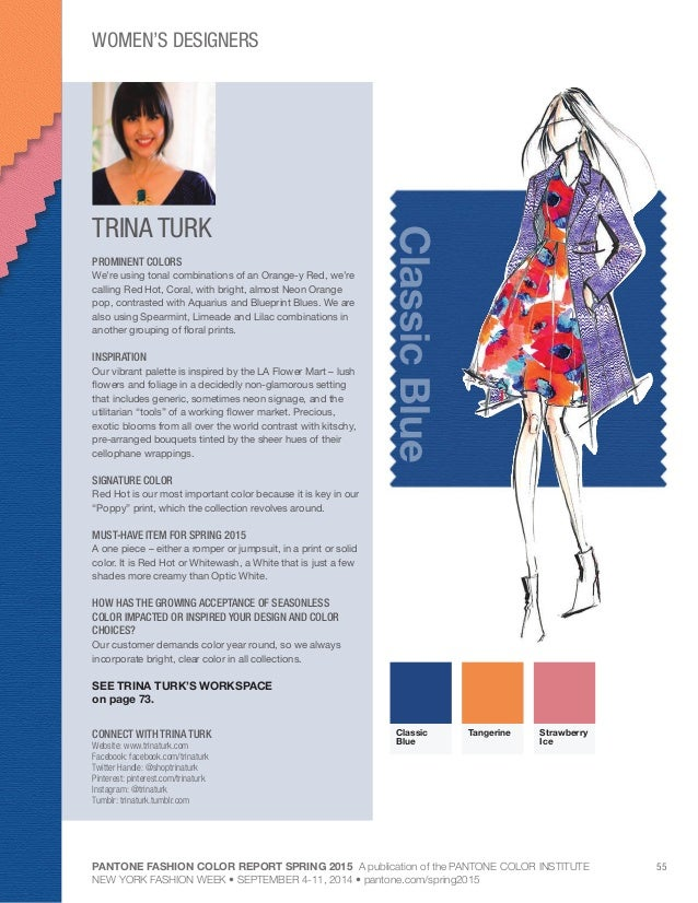 Pantone Fashion Color Palette Spring 2015