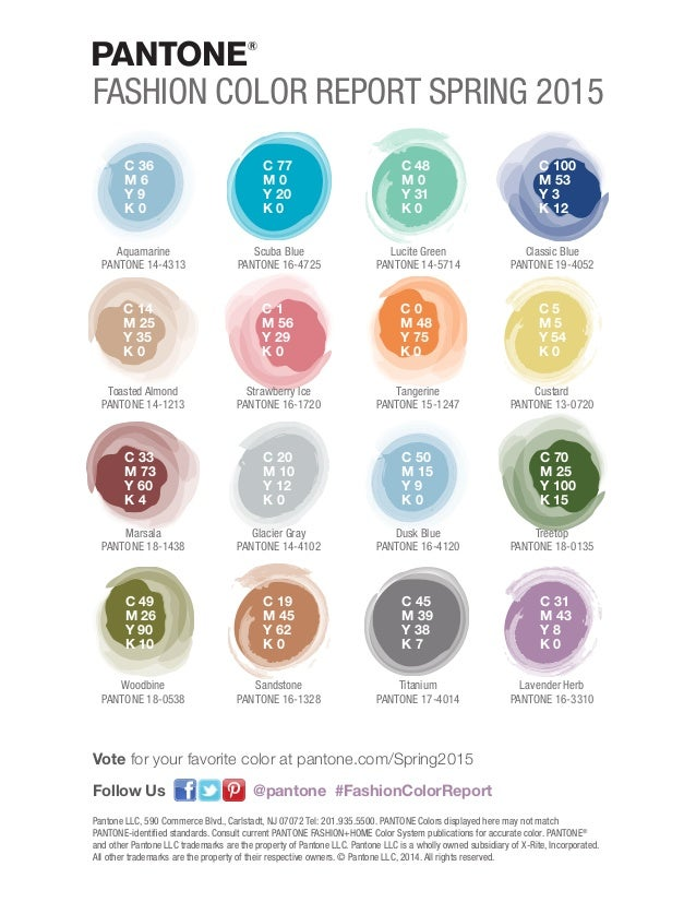 Spring colors pantone fashion report 2015 brought to you by hamilt 85 malvernweather Image collections