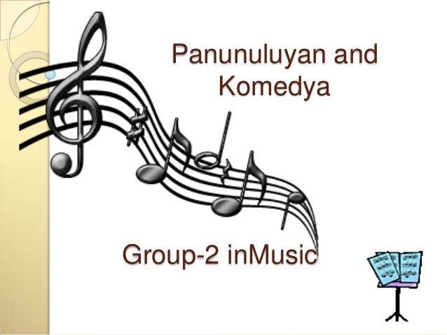 Group-2 inMusic Panunuluyan and Komedya