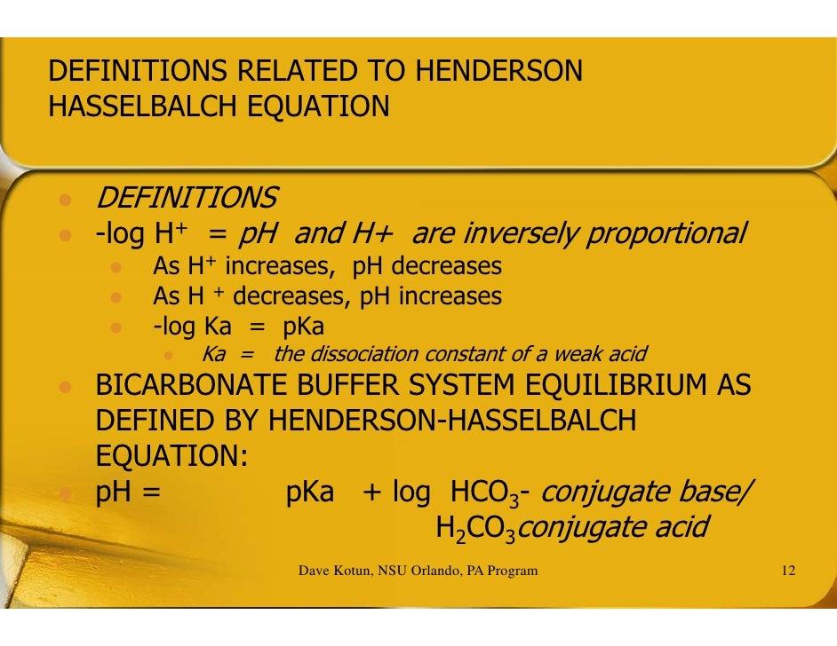 P A O 5600 Lecture 9 Acid Base Balance (2hrs) Dave
